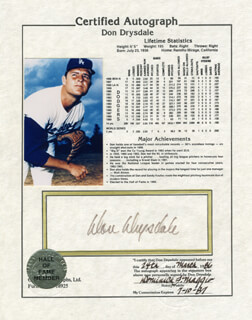 DON DRYSDALE - DOCUMENT SIGNED