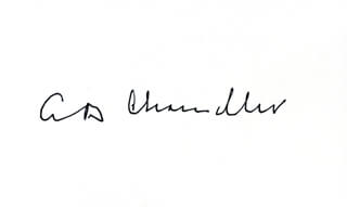 Autographs: ALBERT B. HAPPY CHANDLER - SIGNATURE(S)