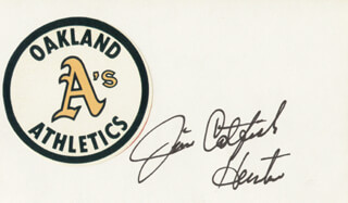 JIM CATFISH HUNTER - AUTOGRAPH