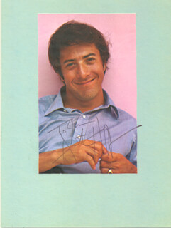 DUSTIN HOFFMAN - INSCRIBED MAGAZINE PHOTO SIGNED