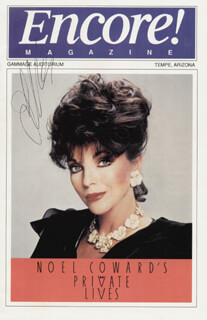 JOAN COLLINS - PROGRAM SIGNED CIRCA 1991