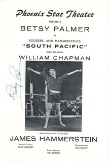 BETSY PALMER - PROGRAM SIGNED