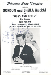 SHEILA MacRAE - INSCRIBED PROGRAM COVER SIGNED