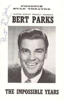 BERT PARKS - INSCRIBED PROGRAM SIGNED