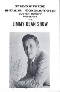 JIMMY DEAN - INSCRIBED PROGRAM SIGNED