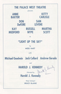 HAROLD J. KENNEDY - PROGRAM SIGNED