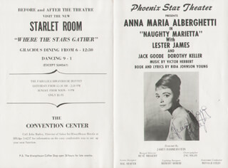 Autographs: ANNA MARIA ALBERGHETTI - PROGRAM SIGNED