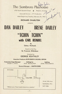 IRENE DAILEY - INSCRIBED PROGRAM SIGNED CIRCA 1964
