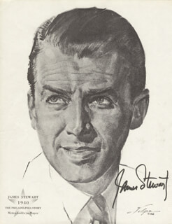 JAMES JIMMY STEWART - ILLUSTRATION SIGNED