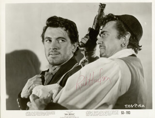 ROCK HUDSON - AUTOGRAPHED SIGNED PHOTOGRAPH
