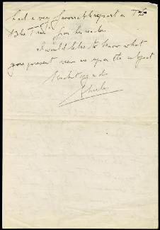 CHARLES LAUGHTON - AUTOGRAPH LETTER SIGNED