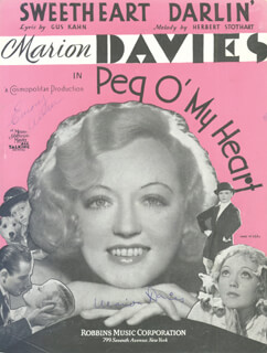 MARION DAVIES - SHEET MUSIC SIGNED CIRCA 1933