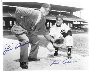 LUKE APPLING - AUTOGRAPHED SIGNED PHOTOGRAPH CO-SIGNED BY: LUIS APARICIO