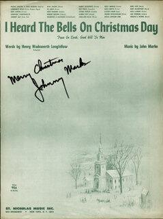 Autographs: JOHNNY MARKS - ANNOTATED SHEET MUSIC SIGNED CIRCA 1956