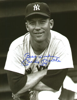 MICKEY MANTLE - AUTOGRAPHED SIGNED PHOTOGRAPH