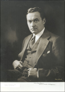 WALTER LIPPMANN - INSCRIBED PHOTOGRAPH MOUNT SIGNED