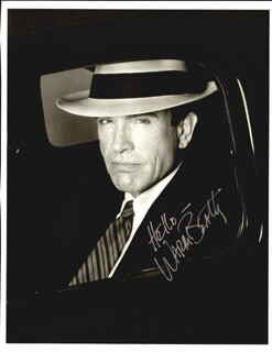 WARREN BEATTY - BOOK PHOTOGRAPH SIGNED
