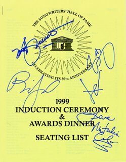 Autographs: TONY BENNETT - PROGRAM SIGNED CIRCA 1999 CO-SIGNED BY: KENNY ROGERS, BILLY JOEL, NATALIE COLE
