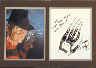 ROBERT ENGLUND - INSCRIBED ORIGINAL ART SIGNED 1993