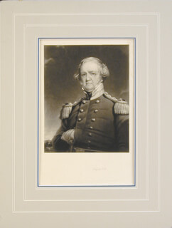 LT. GENERAL WINFIELD SCOTT - ENGRAVING SIGNED