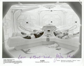 JOHN HURT - AUTOGRAPHED SIGNED PHOTOGRAPH