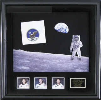 Autographs: NEIL ARMSTRONG - EPHEMERA SIGNED CO-SIGNED BY: BRIGADIER GENERAL MICHAEL COLLINS