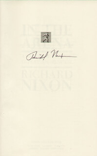 PRESIDENT RICHARD M. NIXON - BOOK SIGNED