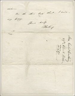 Autographs: CALEB CUSHING - AUTOGRAPH LETTER SIGNED 04/27/1846