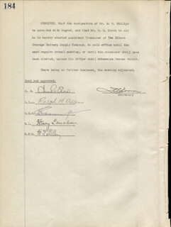 GOVERNOR CHARLES EDISON - CORPORATE MINUTES SIGNED 05/04/1932