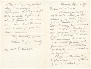 WILLIAM VAUGHN MOODY - AUTOGRAPH LETTER SIGNED 09/13/1898