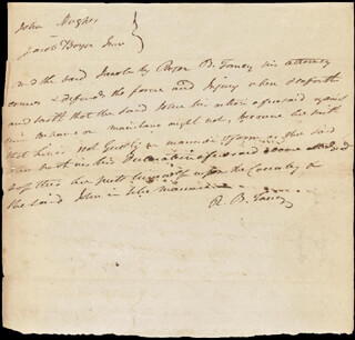 Autographs: CHIEF JUSTICE ROGER B. TANEY - AUTOGRAPH DOCUMENT TWICE SIGNED
