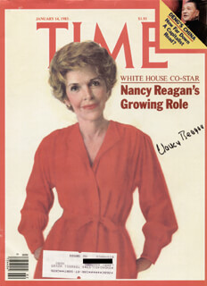 FIRST LADY NANCY DAVIS REAGAN - MAGAZINE COVER SIGNED