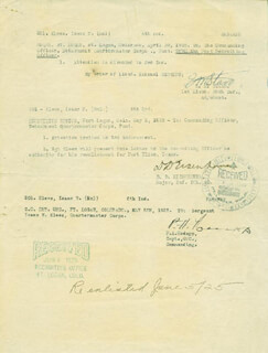 PRESIDENT DWIGHT D. EISENHOWER - DOCUMENT SIGNED 05/02/1925