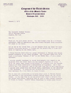 PRESIDENT GERALD R. FORD - TYPED LETTER SIGNED 01/05/1973