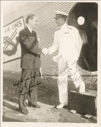 Autographs: REAR ADMIRAL RICHARD E. BYRD - INSCRIBED PHOTOGRAPH SIGNED CO-SIGNED BY: REED G. LANDIS