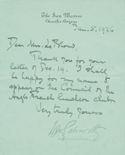 JOHN GALSWORTHY - AUTOGRAPH LETTER SIGNED 01/05/1926