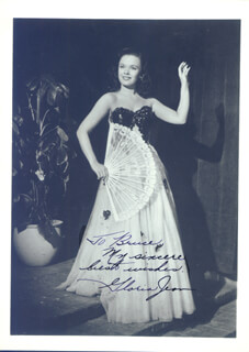 GLORIA JEAN - AUTOGRAPHED INSCRIBED PHOTOGRAPH