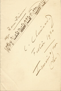 CECILE CHAMINADE - AUTOGRAPH MUSICAL QUOTATION SIGNED 2/1920