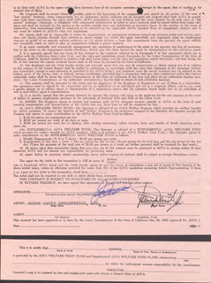 SAMMY DAVIS JR. - CONTRACT SIGNED 01/11/1969