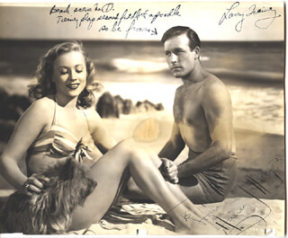 STEP BY STEP MOVIE CAST - AUTOGRAPHED INSCRIBED PHOTOGRAPH CO-SIGNED BY: LAWRENCE TIERNEY, ANNE JEFFREYS
