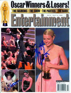 GWYNETH PALTROW - MAGAZINE COVER SIGNED CO-SIGNED BY: WHOOPI GOLDBERG