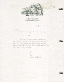 BARNEY OLDFIELD - TYPED LETTER SIGNED 07/31