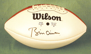 PRESIDENT WILLIAM J. BILL CLINTON - FOOTBALL SIGNED