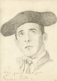 EDDIE CANTOR - ORIGINAL ART SIGNED