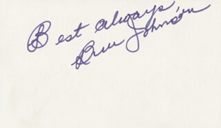 BEN JOHNSON - AUTOGRAPH SENTIMENT SIGNED