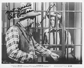 THE BLAZING SUN MOVIE CAST - AUTOGRAPHED SIGNED PHOTOGRAPH CO-SIGNED BY: GENE AUTRY, PAT BUTTRAM