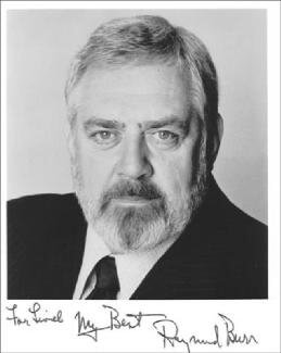 RAYMOND BURR - AUTOGRAPHED INSCRIBED PHOTOGRAPH