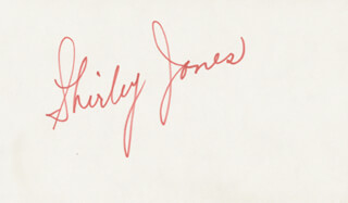 SHIRLEY JONES - AUTOGRAPH