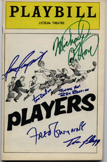 PLAYERS BROADWAY CAST - SHOW BILL SIGNED CIRCA 1978 CO-SIGNED BY: REX ROBBINS, FRED GWYNNE, GENE RUPERT, THOMAS A. CARLIN, MICHAEL O'HARE