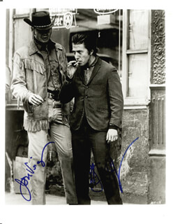 MIDNIGHT COWBOY MOVIE CAST - AUTOGRAPHED SIGNED PHOTOGRAPH CO-SIGNED BY: DUSTIN HOFFMAN, JON VOIGHT